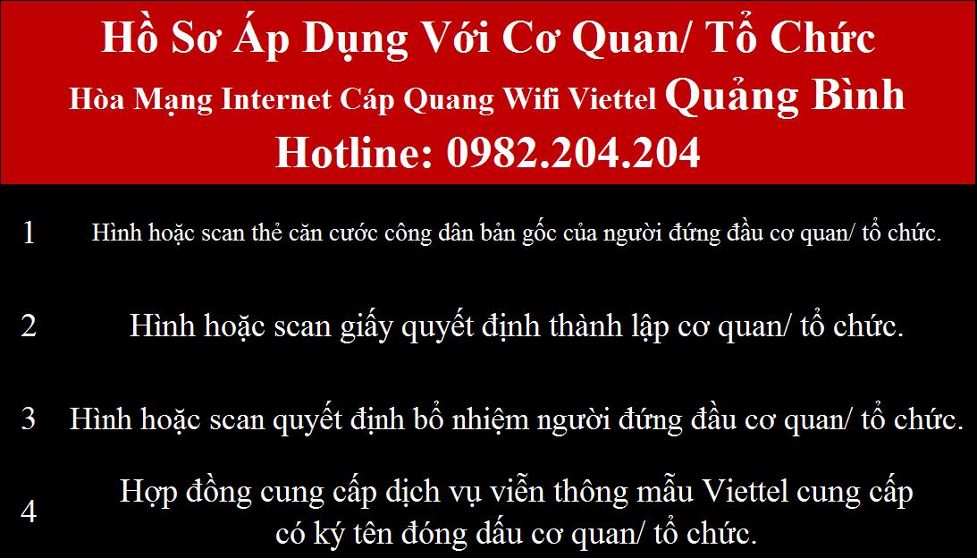 Lắp wifi Viettel Quảng Bình