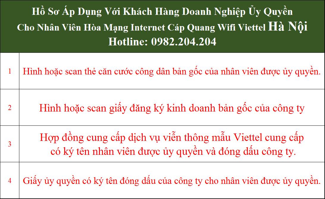 Bảng giá cáp quang Viettel Hà Nội