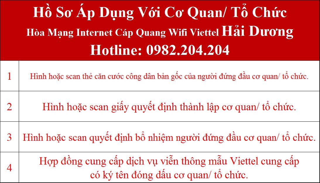 Đăng ký internet Viettel Hải Dương