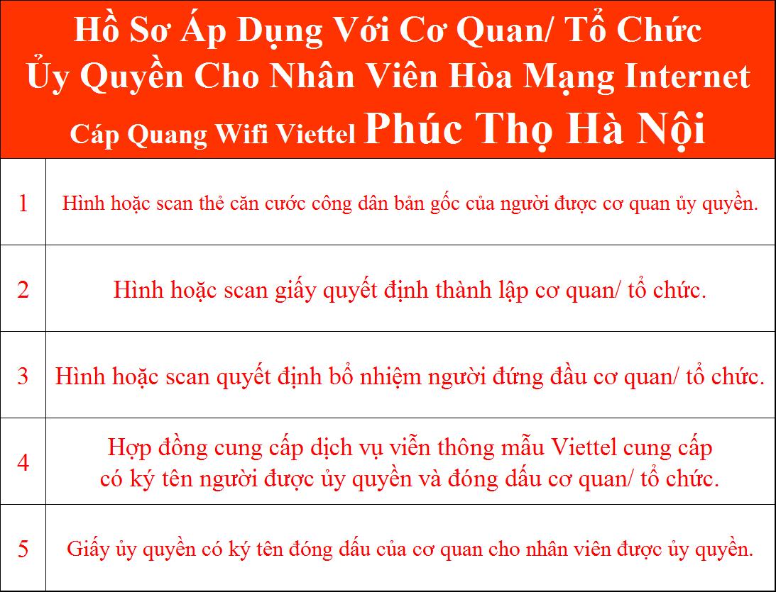 Đăng ký internet Viettel Phúc Thọ Hà Nội