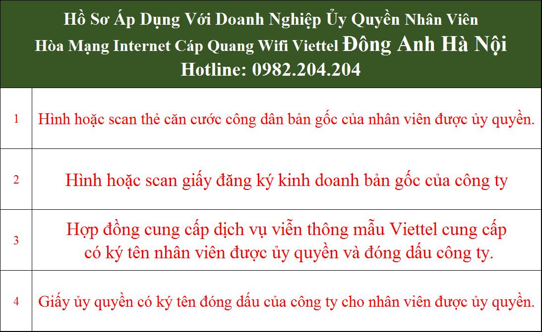 Đăng ký lắp mạng Viettel Đông Anh Hà Nội