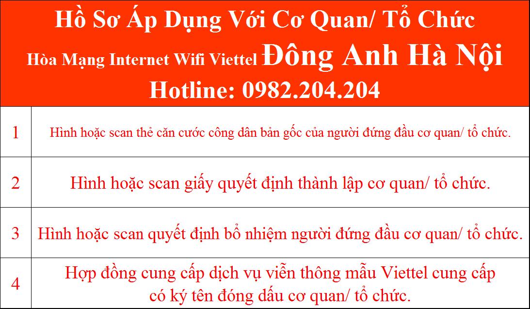 Đăng ký lắp wifi Viettel Đông Anh Hà Nội