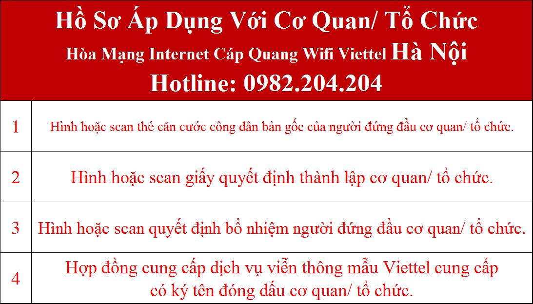 Đăng ký mạng Viettel Hà Nội