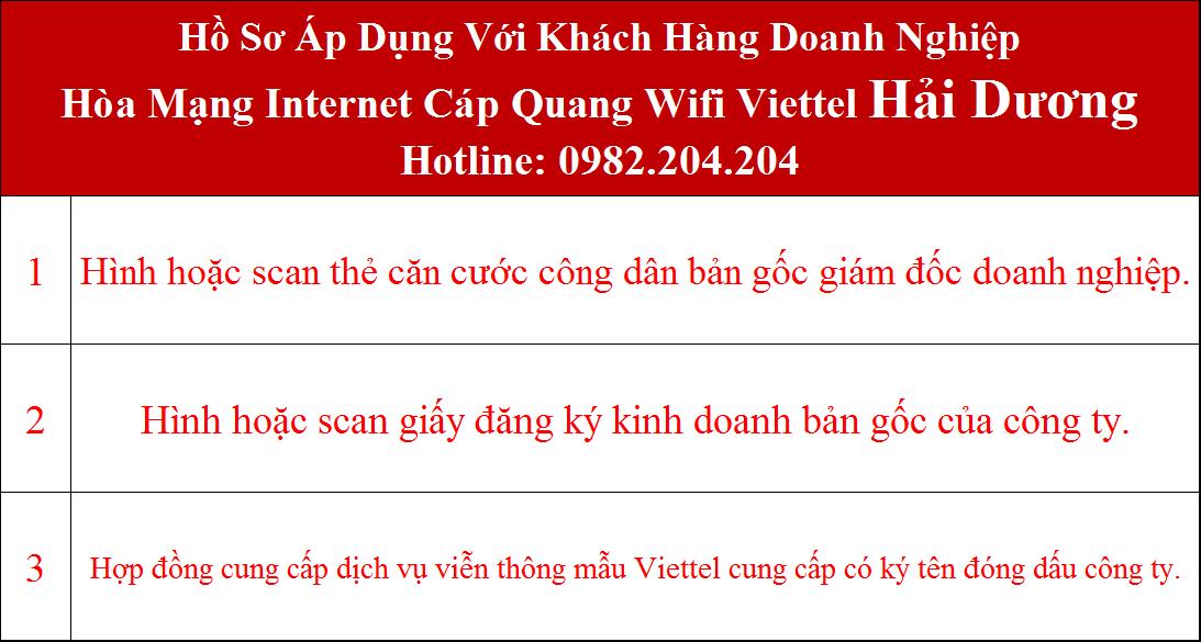 Đăng ký mạng Viettel Hải Dương