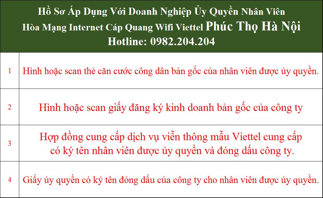 Đăng ký mạng Viettel Phúc Thọ Hà Nội