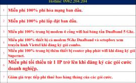 Ưu đãi lắp wifi Viettel Thanh Oai Hà Nội 2021